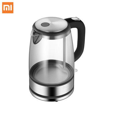 Xiaomi Glass Electric Water Kettle Stainless Steel Home Led Light Tea Pot 1.7l 220v Temperature