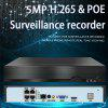 H.265 4ch 5MP PoE Network Video Recorder Surveillance For HD 5MP 1080P IP Camera PoE 802.3af