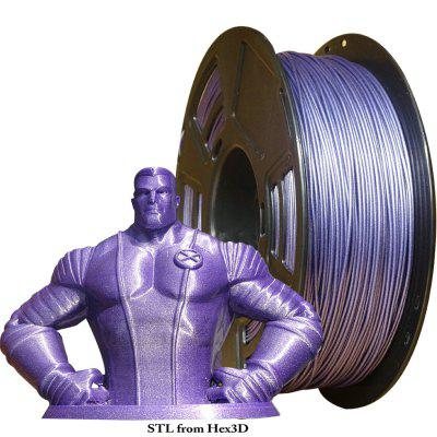 Stronghero3D PLA 3D Printer Filament Galaxy Purple 1.75mm 1kg for CR10 Ender3 Anet A8