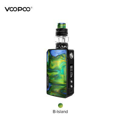 VOOPOO Drag 2 Kit ecigarette 177W Mod 5ml Uforce T2 Tank with U2 N3 Mesh Coil Resin Panel Vape Kits