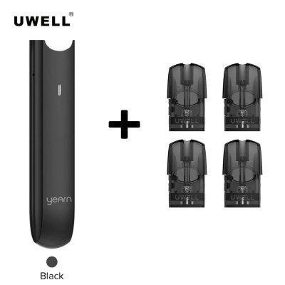 Uwell Yearn Pod Battery 370mAh With 1.5ml EMPTY Pod Cartridges 4PCS Heads