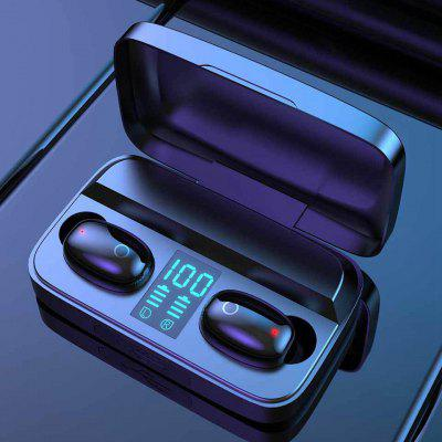 A16 TWS Wireless Bluetooth Earbuds 5.0 Touch Earphones  Stereo  Music - Black