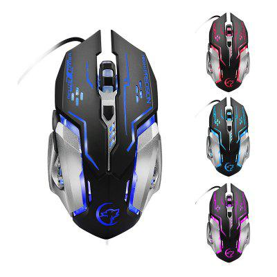 YWYT G815 Game Optical Wired Mouse Colorful Breathing Light Professional Gaming