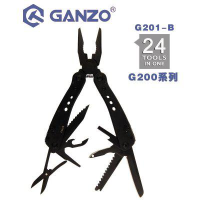 Ganzo G201-B 24 In 1 Multi pliers Hand Tool Set with Screwdriver Kit Portable Knife Steel Plier