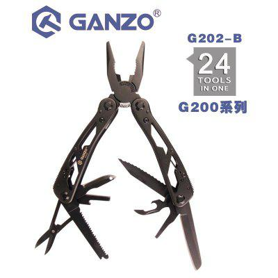 Ganzo G202-B 24 in 1 Multi pliers Hand Tool Set with Screwdriver Kit Knife Stainless Steel plier