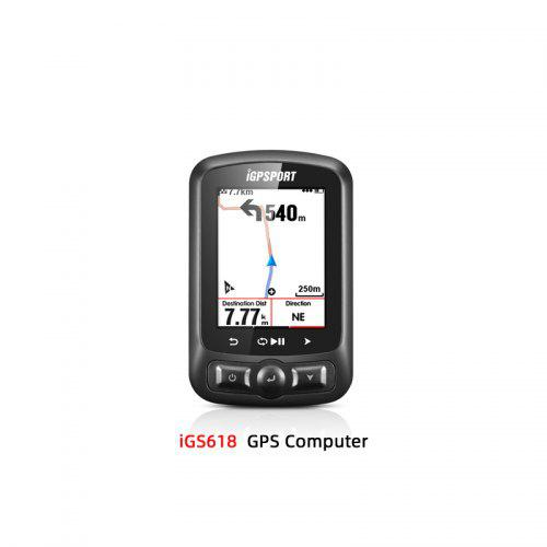 IGPSPORT Cycling Backlit Screen Stopwatch GPS Cycle Computer Black with Bracket