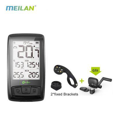 MEILAN M4 Wireless Bicycle Computer Bike speedometer with Speed  Cadence Sensor  Bluetooth ANT