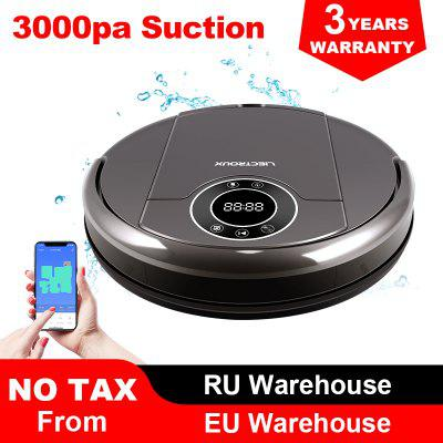 LIECTROUX ZK808 Robot Vacuum Cleaner WiFi App 3000pa Suction Map Navigation UV Lamp