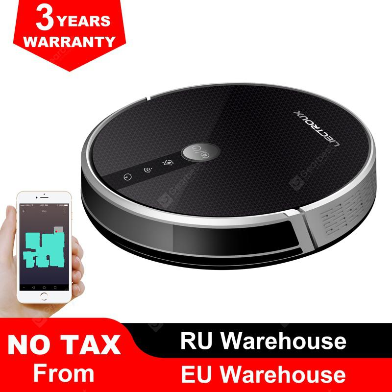 LIECTROUX C30B Robot Vacuum Cleaner Map navigation 3000Pa Suction Electric Water tank - Black Czech Republic