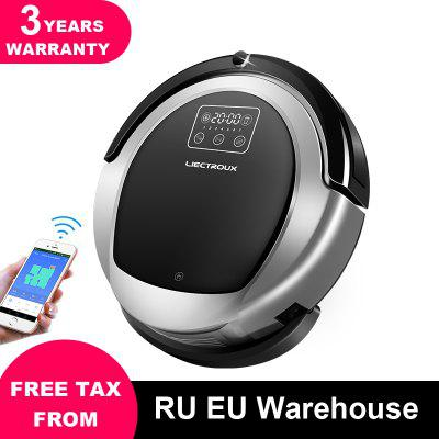 LIECTROUX B6009 Robot Vacuum CleanerSmart Memory Suction 3000pa Dual UV Lamp Image