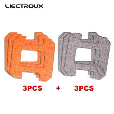 X6 LIECTROUX Fiber Mopping Cloths for Window Cleaning Robot