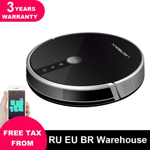 LIECTROUX C30B Robot Vacuum Cleaner Map navigation 3000Pa Suction Electric Water tank - Black Brazil