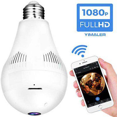 1080p WiFi Bulb Camera 360 Fisheye Panoramic Surveillance LED Light Bulb Camera  US Available Only