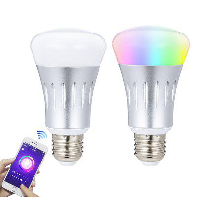 WiFi Bulb 2-Pack E27 Smart Light Bulb 7W RGB Multicolor LED Light Bulb Wake up Lights Compatible