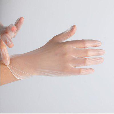 Disposable Gloves Set 100 Pcs Latex PVC Protection Gloves Home Cleaning Rubber Food Grade Gloves
