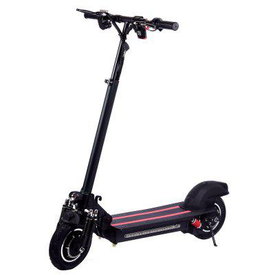 10 Inch Single Drive Electric Scooter Speed 35-40km H 600W With Light Black Germany