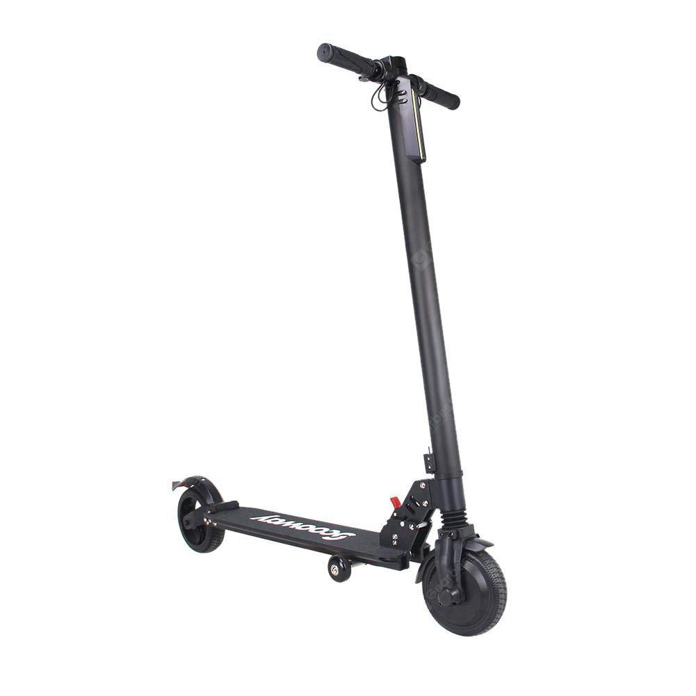 SCOOWAY Electric Folding Scooter Black With 6.5inch 350W 2 Wheel Kick Scooter 15 MPH Max Speed