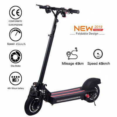 Lamtwheel 10 inch Double Drive Electric Folding Scooter Speed 40-45kmH 600W Black Germany