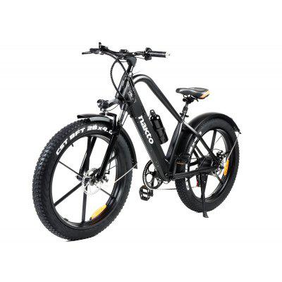Nakto Black Electric Bicycle 26in 500W 48V 12Ah Fat Tire 6-Speed With LCD E-Bike Image