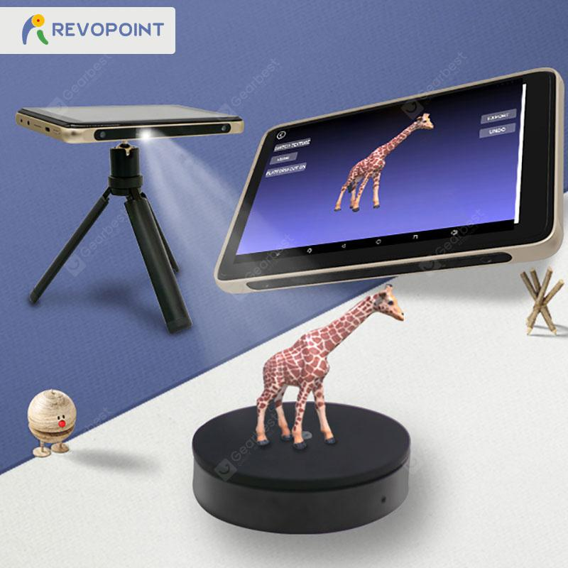 Desktop Smart Touchscreen 3D Scanner Tanso S1 with HD Projection Preview Android Tablet Portable - gold