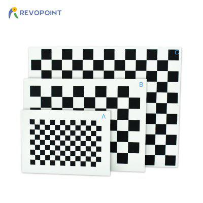 Checkerboard pattern calibration board for camera calibration  with three sizes  5mm in thickness