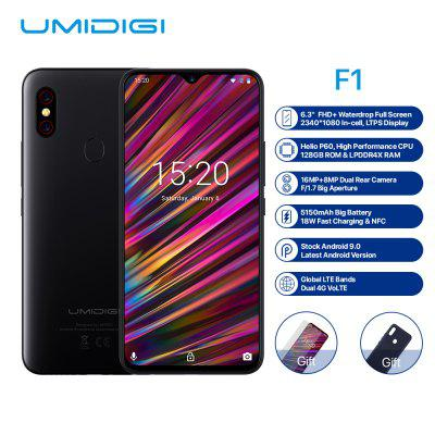 UMIDIGI F1 4G Phablet 6.3 inch Android 9.0 Helio P60 Octa Core 2.0GHz 4GB 128GB European Union Image