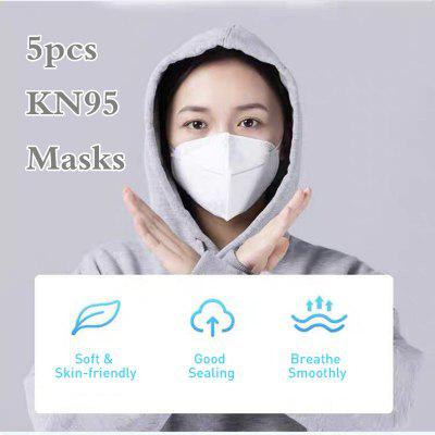 5pcs 4-layer KN95 Face Mask with Elastic Ear Loop