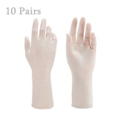 10 Pairs of Disposable Latex Gloves Powder Free Anti-bacteria Anti-pollution Safety Protection