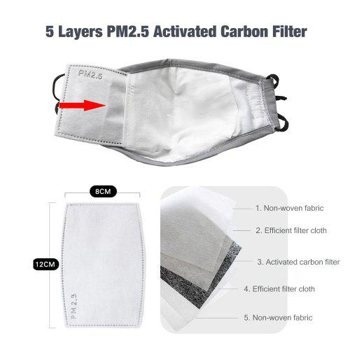 Fashion Breathable Cotton Mask Anti-haze Dustproof with Breath Valve Filter Core for Health