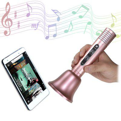 GBTIGER Handhold Bluetooth Speaker Wireless Microphone compatible with iPhone Android Smart Phone