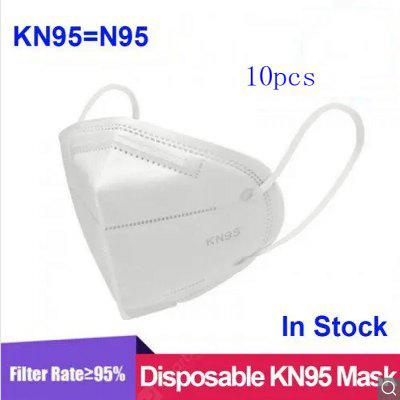 10 PCS KN95 N95 Face Mask Protective Masks Dust Particles Anti-virus for Safety Health