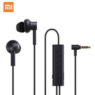 Original XIAOMI Mi Noise Canceling Earphones Black in-Ear 3.5MM Audio port Smartphone Hybrid HD
