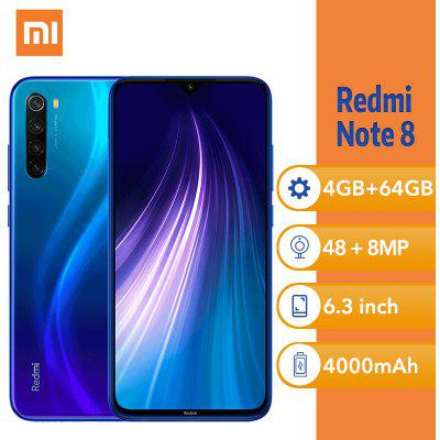 Xiaomi Redmi Note 8 6.3 Inch 4GB 64GB Smartphone Snapdragon 4000mAh Unlocked Global Version