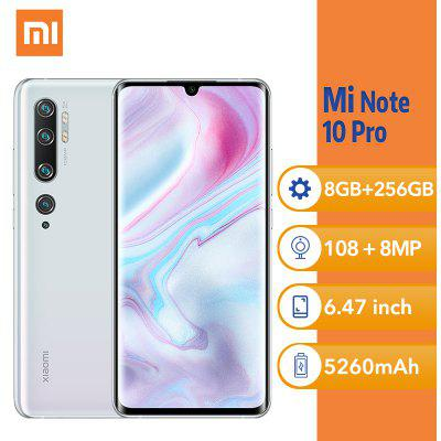 Xiaomi Mi Note 10 Pro 6.47Inch 108MP Penta Camera 8GB 256GB MobilePhone Global Version 5260mAh Image