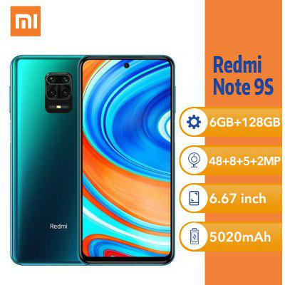 Xiaomi Redmi Note 9S 6.67Inch 6GB 128GB Smartphone Snapdragon 720G Octa core 5020mAh Global Version Image