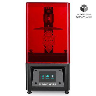 ELEGOO Mars UV Photocuring LCD MSLA 3D Printer with 4.7 x 2.6 x 6.1 Inches Printing Size Black