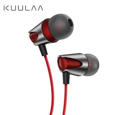 KUULAA Earphones with Microphone Wired Earbuds in Ear Deep Bass 3.5mm Jack for iPhone