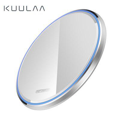 KUULAA Qi Mirror Wireless Charger 10W With LED Light fast charging for iphone samsung