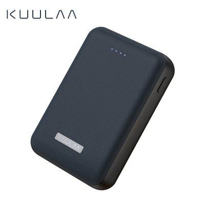 KUULAA Power Bank 10000mAh Portable Charge Dual USB Mini External Battery Charger for iphone