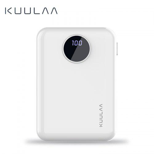 KUULAA Power Bank 10000mAh Portable Fast Charging USB Mini External Battery Charger for iphone