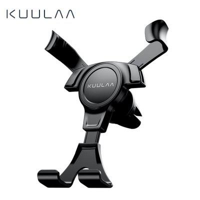 KUULAA Gravity Car Holder For Phone in Car Air Vent Clip Mount No Magnetic Mini Mobile Phone Holder