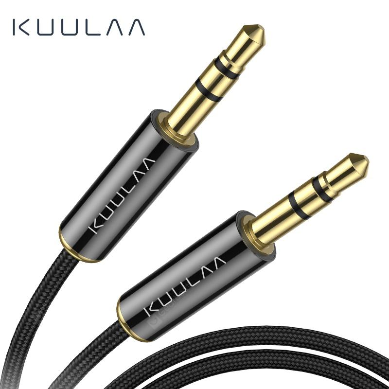 KUULAA Jack 3.5 Audio Cable 3.5mm Speaker Line Aux Cable for iPhone Samsung Xiaomi Audio Jack