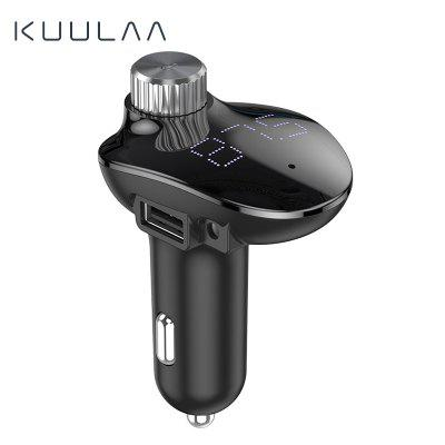 KUULAA Car Charger with FM Transmitter Audio MP3 Player TF Card Car QC3.0 Fast Charging