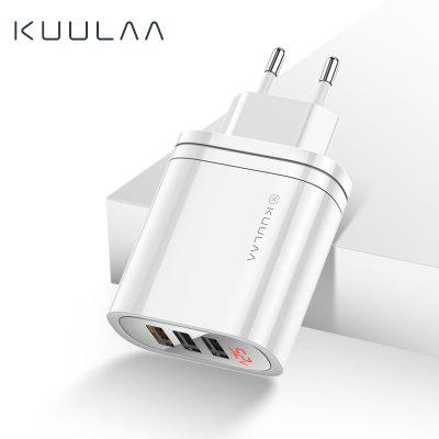 KUULAA Quick Charge 3.0 USB Charger 30W wall charger charge Adapter Fast Charging Multi Plug