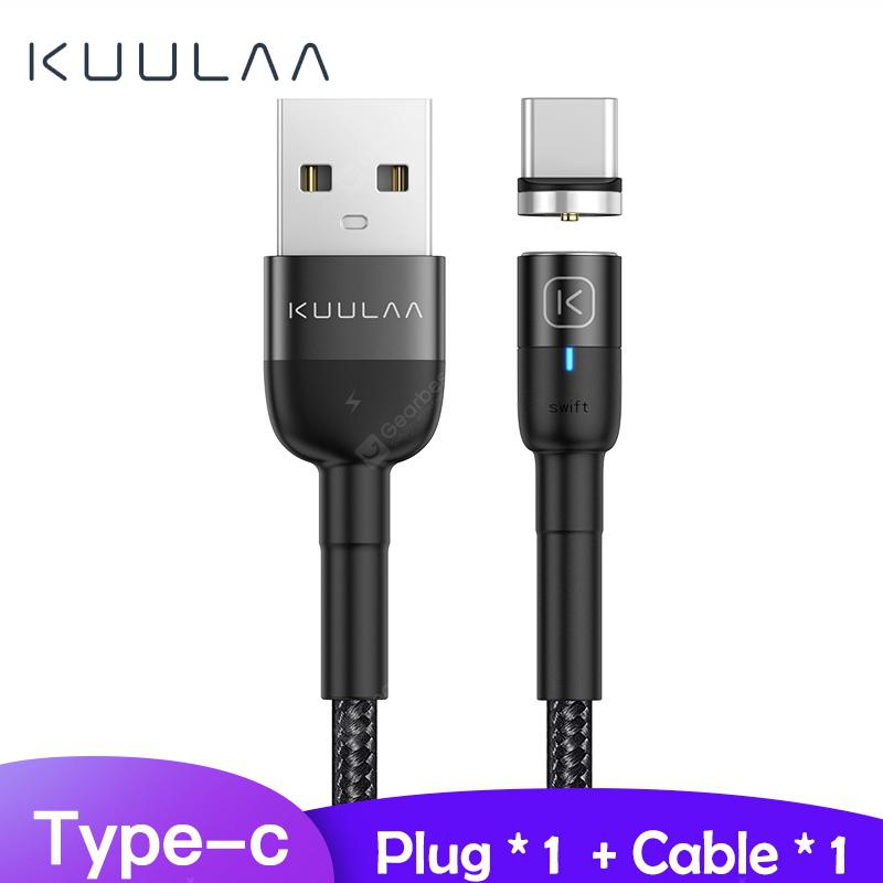 KUULAA Magnetic Micro USB Type C Cable Fast Charging USB Cable Magnet Charger Wire Cord - 1M