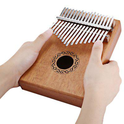 17 Tone Wood Kalimba Thumb Piano That Allows You to Play Euphonious Music in No Time and Fall in Love with the Crystal Clear Sound