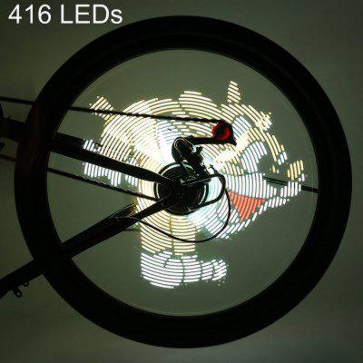 FH - 801 Pro DIY Cycling Bicycle 416 LEDs Waterproof Colorful Changing Video Gift Pictures  -0211
