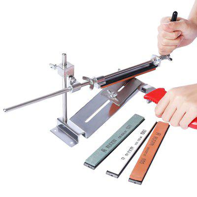 Professional Knife Sharpener Kitchen Grinder Sharpening System with 4 Grindstone