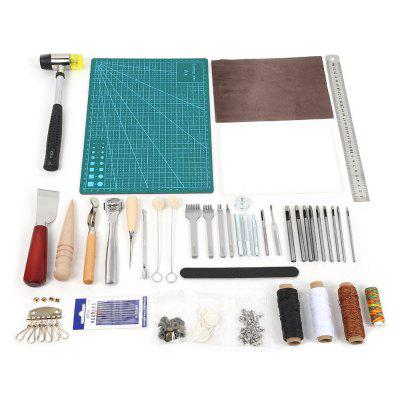 42pcs Stitching Carving Sewing Leather Craft Punch Tools  -0219