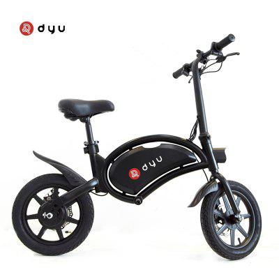 dyu D3F Electric Bike 36V 10AH Battery Portable Folding Electric Moped Bicycle Maximum Speed 20kmh